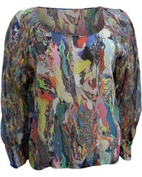 Dries Van Noten - Blouse soie multicolore - Lyst