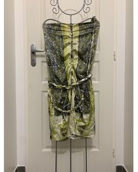 Jean Paul Gaultier Robe mi-longue synthétique multicolore - Vert