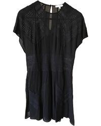 IRO - Robe courte viscose noir - Lyst