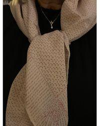 Chanel Foulard soie rouge