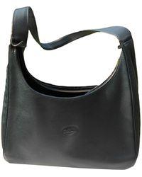 Longchamp Sac en bandoulière en cuir cuir bleu