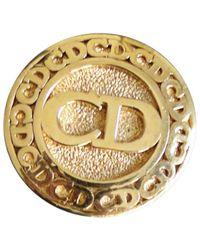 Dior Broche métal doré - Métallisé