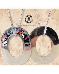Christian Lacroix - Pendentif, collier pendentif acier argent - Lyst