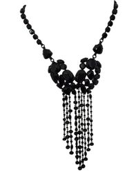Jean Paul Gaultier Pendentif, collier pendentif pierres noir