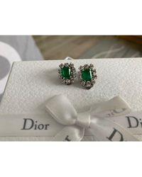 Dior Boucles d'oreilles acier argent - Métallisé
