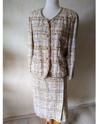 Chanel Tailleur jupe laine multicolore