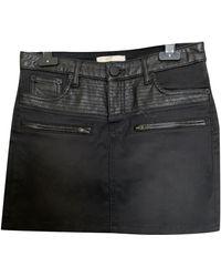 Maje - Jupe courte coton noir - Lyst