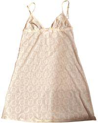 Dior Robe courte polyester blanc