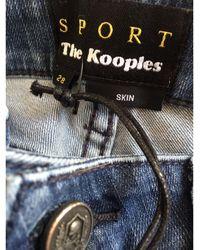 The Kooples Jeans slim coton bleu