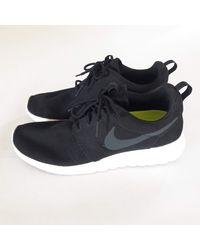 Nike - Baskets coton Roshe noir - Lyst