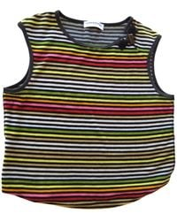 Sonia Rykiel Top, tee-shirt velours multicolore