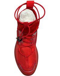 Balmain Baskets cuir rouge