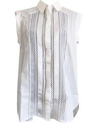 Sandro Tunique coton blanc