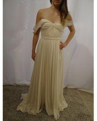 Jenny Packham Robe de mariée mousseline de soie blanc