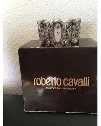 Roberto Cavalli Montre au poignet acier argent - Métallisé