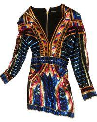 Balmain Robe courte see label multicolore