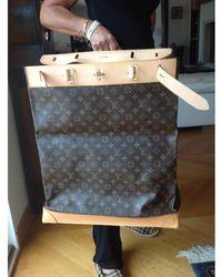 Louis Vuitton Cabas tissu enduit marron