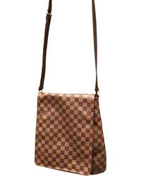 Louis Vuitton Sac en bandoulière en cuir cuir marron