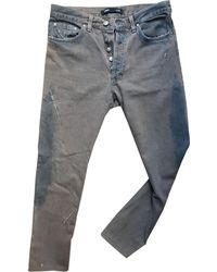 Versace Jeans droit denim, jean gris
