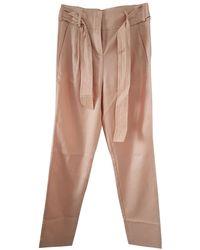 Maje Pantalon carotte coton autre - Multicolore
