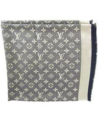 Louis Vuitton Châle soie bleu