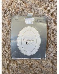 Dior Porte-jarretelles lycra blanc