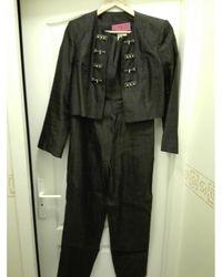 Christian Lacroix Tailleur pantalon soie noir