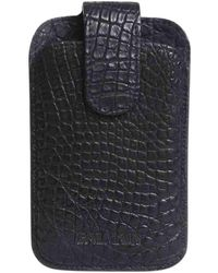 Balmain Etui iPhone cuir noir