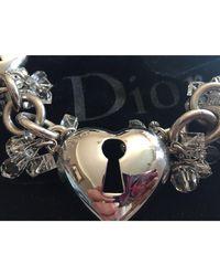 Dior Parure bijoux métal argent - Métallisé