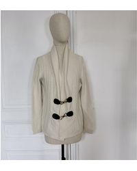 Sandro Gilet, cardigan laine blanc