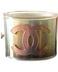Chanel Bracelet résine doré - Métallisé