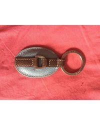 Longchamp - Porte-clés cuir bleu - Lyst