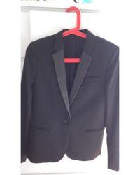 The Kooples - Blazer, veste tailleur coton noir - Lyst