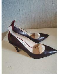 Fendi - Escarpins cuir rouge - Lyst