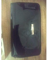 Longchamp Portefeuille cuir verni noir