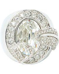 Dior - Bague métal argent - Lyst