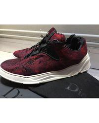 Dior Baskets tissu rouge