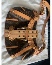 Louis Vuitton - Sac à main en cuir cuir marron - Lyst