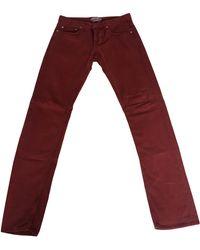 Sandro Jeans slim coton rouge