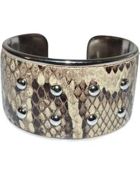Tod's - Bracelet serpent d'eau beige - Lyst