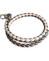 Tod's Bracelet cuir blanc