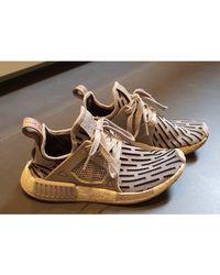 adidas Baskets tissu gris