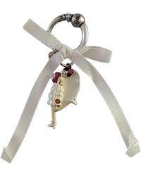 Lanvin Porte-clés métal blanc