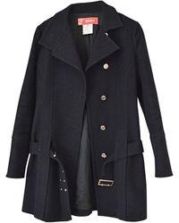 Versace Manteau laine noir