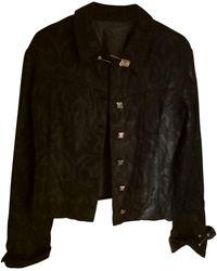 Versace Tailleur jupe viscose noir