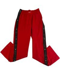 Nike - Pantalon de survêtement polyester rouge - Lyst