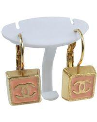 Chanel Boucles d'oreilles plaqué or doré - Métallisé