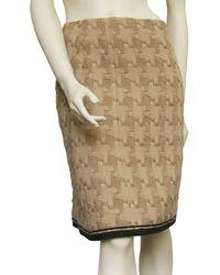 Chanel Jupe mi-longue laine beige - Neutre