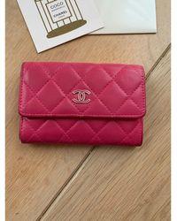 Chanel Porte-monnaie cuir Timeless - Classique rose