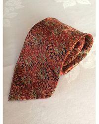 Lanvin Cravate soie rouge